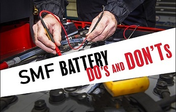 Do's & Don'ts for sealed maintenance free (SMF) batteries